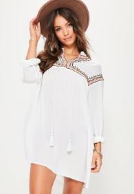 white-oversized-embroidered-yoke-swing-dress